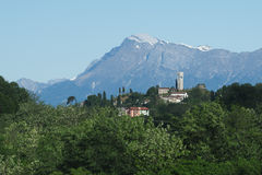 Fagagna: eins der schönsten Dörfer von Italien stockfoto