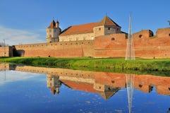 Fagaras城堡-中世纪堡垒 库存图片
