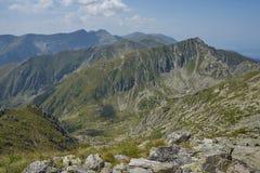 Fagaras山在一个夏日 库存照片