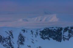 Fagaras山在冬天,罗马尼亚 免版税库存图片