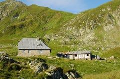 Fagaras山的小屋Podragu 库存图片