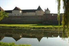 fagaras筑了堡垒于堡垒transylvania 免版税库存照片