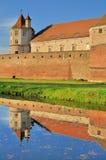 Fagaras -有塔的中世纪堡垒 库存照片
