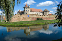 Fagaras Castle from Brasov County, built around 1310, now restored and currently used as a museum and library Stock Images