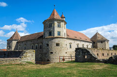 Fagaras Castle from Brasov County, built around 1310, now restored and currently used as a museum and library Royalty Free Stock Photo