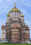 Fagaras cathedral, under construction Royalty Free Stock Photography