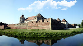 Fagaras citadel. Built in 15 C by transylvania princes, is one of the most well preserved medieval castles in Romania Royalty Free Stock Photography