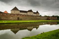 Fagaras Citadel. / Fortress in a cloudy day- medieval fortress in Brasov, Romania Stock Image