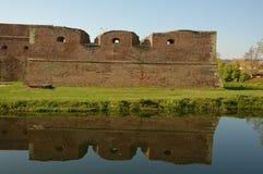 Fagaras fortificó la fortaleza (Cetatea rumano Fagar Foto de archivo libre de regalías