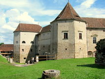 Fagaras Fortress. Built in 1310 on the site of a former 12th century wooden fortress, Fagaras was enlarged between the 15th and 17th centuries and was considered Stock Images