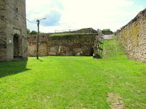 Fagaras Fortress courtyard. Built in 1310 on the site of a former 12th century wooden fortress, Fagaras was enlarged between the 15th and 17th centuries and was Stock Photos