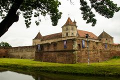 Fagaras Fortress. Medieval fortress in Brasov, Romania Royalty Free Stock Photo