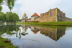 Fagaras fortress, Transylvania, Romania stock photography