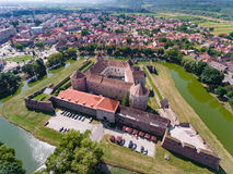Fagaras Fortress in Transylvania Stock Image
