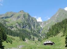 Fagaras Landscape. A shepards house in Fagaras Mountains royalty free stock photography
