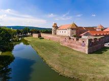 Fagaras medeltida fästning i Brasov Rumänien Royaltyfria Bilder