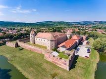 Fagaras medeltida fästning i Fagaras Transylvania Rumänien Arkivfoto