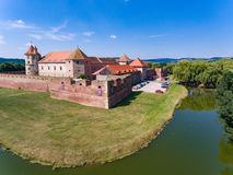 Fagaras medieval fortress as seen from above Stock Image