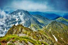 Fagaras mountain range in Romania Stock Photos