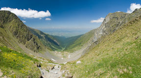 Fagaras. Mountain in Romania in Europe Stock Photos