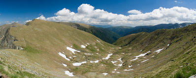 Fagaras. Mountain in Romania in Europe stock photo