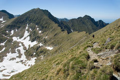 Fagaras. Mountain in Romania in Europe Royalty Free Stock Photo