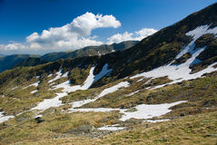 Fagaras. Mountain in Romania in Europe royalty free stock image