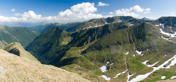 Fagaras. Mountain in Romania in Europe Royalty Free Stock Images