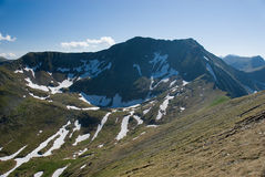 Fagaras. Mountain in Romania in Europe stock image