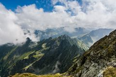 Fagaras mountaines peaks, Romania Stock Photo