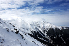 Fagaras Mountains. View from Fagaras Mountains in a sunny day Royalty Free Stock Images
