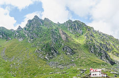 Fagaras mountains, Carpathians with green grass and rocks, Peaks Royalty Free Stock Photos