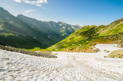 Fagaras mountains, near Moldoveanu peak, Transylvania, Sibiu county, Romania. Stock Photos