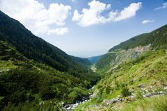 Fagaras mountains in Romania Stock Photos