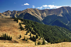 Fagaras Mountains in Romania. Landscape from the rocky Fagaras mountains , Romania royalty free stock photography
