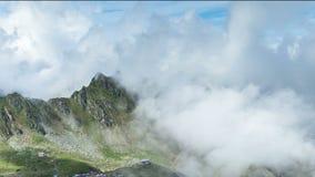 Fagaras Mountains, Romania. Transylvania region. Timelapse stock video