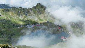Fagaras Mountains, Romania. Transylvania region. Timelapse stock footage