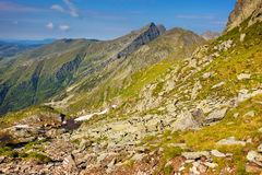 Fagaras mountains in Romania Royalty Free Stock Photos
