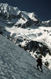 Fagaras Mountains Skier Stock Photography
