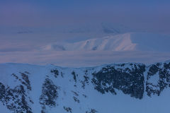 Fagaras Mountains in winter, Romania Royalty Free Stock Images