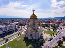 Fagaras Orthodox Cathedral in Fagaras city, Transylvania, Romani Royalty Free Stock Images