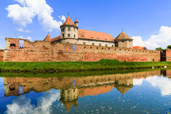 Fagaras, Romania. Famous medieval castle in Transylvania,Europe royalty free stock photo