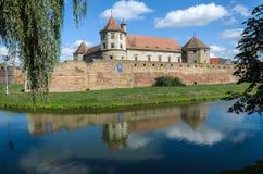 Fagaras-Schloss von Brasov-Grafschaft, gegen 1310 errichtet, jetzt wieder hergestellt und als Museum und Bibliothek z.Z. benutzt stockbilder