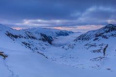 Fagarasbergen in de winter, Roemenië Stock Afbeelding