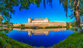 Fagarascitadel, Transsylvanië, Roemenië, Europa royalty-vrije stock afbeeldingen