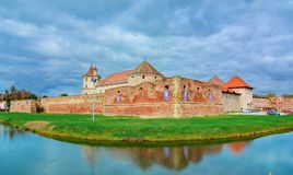 Fagarascitadel, Transsylvanië, Roemenië, Europa royalty-vrije stock afbeelding