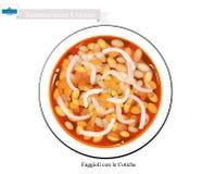 Faggioli con le Cotiche, The Popular Dish Of San Marino Royalty Free Stock Images