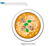 Faggioli con le Cotiche, The Popular Dish Of San Marino Royalty Free Stock Image