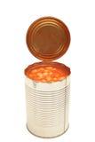 Fagioli cotti in una latta Fotografie Stock