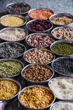 Fagioli dei grani di cereali a Delhi India Immagini Stock